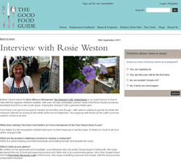 Rosie Weston interview with The Good Food Guide
